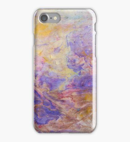Swirls of purple unique abstract ink pattern design iPhone Case/Skin