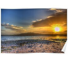 Sunset over the Lough Poster
