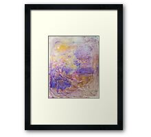 Swirls of purple unique abstract ink pattern design Framed Print