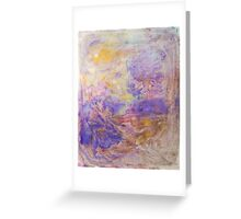 Swirls of purple unique abstract ink pattern design Greeting Card