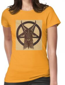 BAPHOMET TAN Womens Fitted T-Shirt