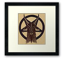 BAPHOMET TAN Framed Print