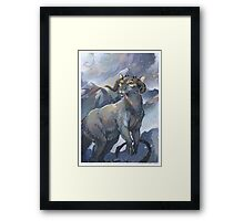 tauntaun - monarch of hoth Framed Print
