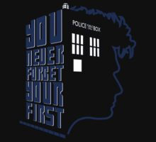You Never Forget Your First - Doctor Who 10 David Tennant Kids Tee