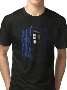 You Never Forget Your First - Doctor Who 10 David Tennant Tri-blend T-Shirt
