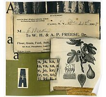 Green fig 6 x 6 collage Poster