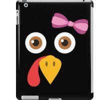 Thanksgiving Turkey Face Bow Funny Girls Gobble Gear iPad Case/Skin
