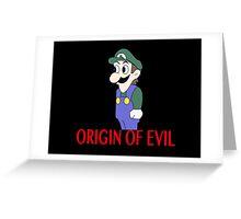 Weegee Origin of Evil Greeting Card
