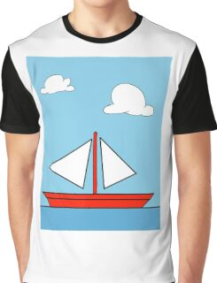 The Simpson's sailboat painting Graphic T-Shirt