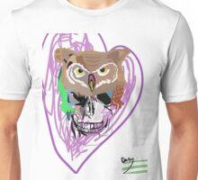 Skull  Owl Design all colours you choose!  Unisex T-Shirt