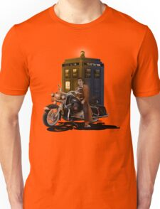 time and space traveller with Big Motorcycle Unisex T-Shirt