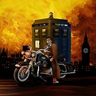 time and space traveller with Big Motorcycle by Arief Rahman Hakeem