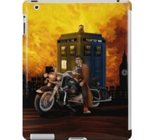 time and space traveller with Big Motorcycle iPad Case/Skin