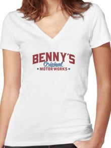 Benny's Custom Works  Women's Fitted V-Neck T-Shirt