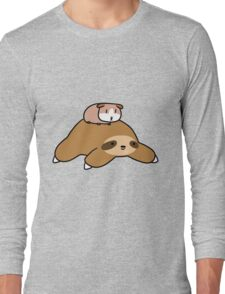 Sloth and Guinea Pig Long Sleeve T-Shirt