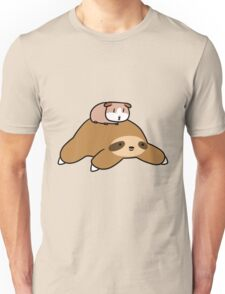 Sloth and Guinea Pig Unisex T-Shirt