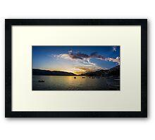 Seaside Sundown Framed Print