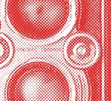 Red Rolleiflex Sticker