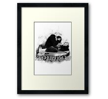 Alan Wake 'I can't going like this....' - white version Framed Print
