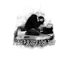 Alan Wake 'I can't going like this....' - white version Photographic Print