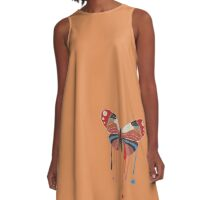 Painted Butterfly A-Line Dress