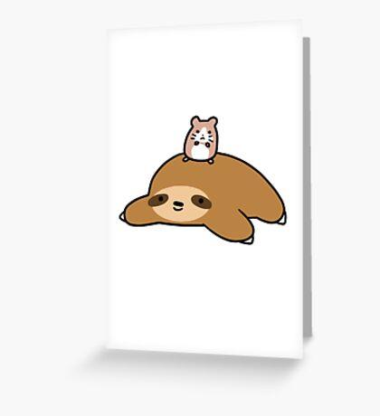 Sloth and Hamster Greeting Card