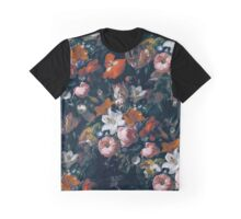 Halftone Flowers Graphic T-Shirt