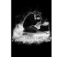 Alan Wake 'I can't going like this....' - black version Photographic Print