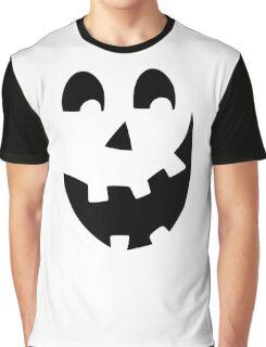 Crazy Jack O'Lantern Face Graphic T-Shirt