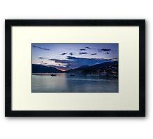 Twilight Time on Seaside Framed Print
