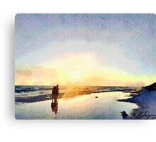 Walking on Seaside 30A  Canvas Print