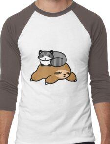 Sloth and Raccoon Men's Baseball ¾ T-Shirt