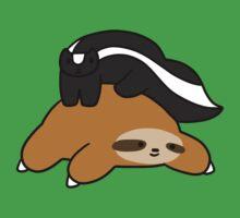 Sloth and Skunk by SaradaBoru