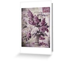 Lilacs Of Yesteryear Greeting Card