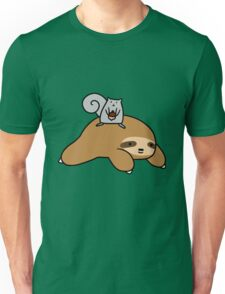 Sloth and Squirrel  Unisex T-Shirt