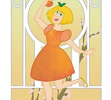 Art Nouveau Peach Girl by amysheneman