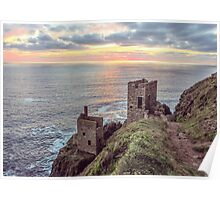 crown mines botallack cornwall. Poster