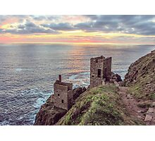 crown mines botallack cornwall. Photographic Print