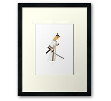 Samurai Jack (Gray) Framed Print