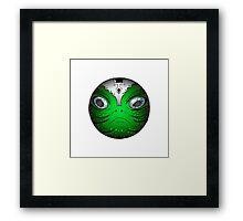 Portrait of Reptile alien with helmet Framed Print
