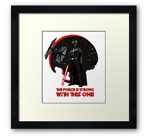 The Force is Strong Darth Vader Star Wars Tie Fighter  Framed Print