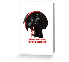 The Force is Strong Darth Vader Star Wars Tie Fighter  Greeting Card