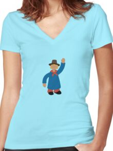 Windy Miller- Camberwick Green Women's Fitted V-Neck T-Shirt