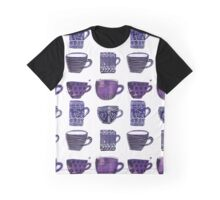 Quirky Watercolor Mugs and Cups Graphic T-Shirt