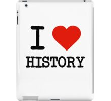 I Love History iPad Case/Skin