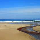 Meandering Waters, Tolsta Beach, Isle of Lewis by Kathryn Jones