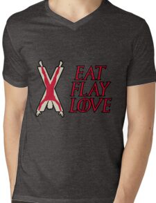 Eat, Flay, Love  Mens V-Neck T-Shirt