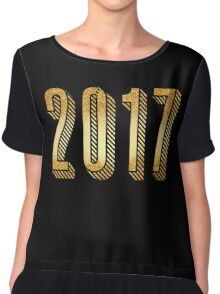 Gold Typography New Years 2017 Chiffon Top
