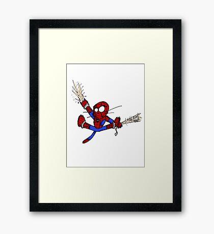Spider-chat Framed Print