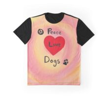 Peace Love Dogs (2) Graphic T-Shirt